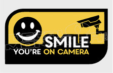 Video Surveillance Smile on Camera Decal Sticker