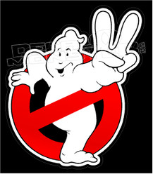 Ghostbusters Peace Sign Decal Sticker