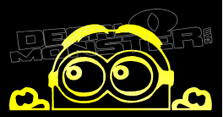 Dave Minion Peeking Silhouette Decal Sticker