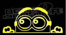 Dave Minion Peeking Silhouette Decal Sticker
