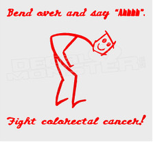 Colon Cancer Awareness Stick Man Decal Sticker