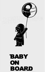 Star Wars Darth Vader Baby On Board Decal Sticker