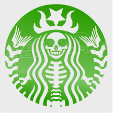 Starbucks Skullbucks Mermaid Parody Decal Sticker