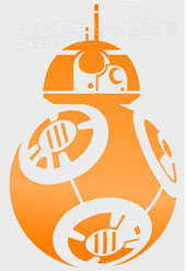 Star Wars BB-8 Rolling Droid Silhouette Decal Sticker