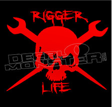 Rigger Life3 Decal Sticker