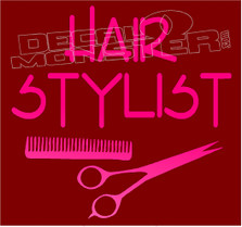 Proud Hair Stylist Decal Sticker