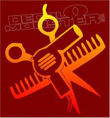 Hair Stylist Tools Decal Sticker