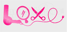 Hairstylist Love Decal Sticker