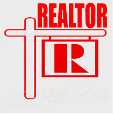 Realtor Signage Silhouette Decal Sticker