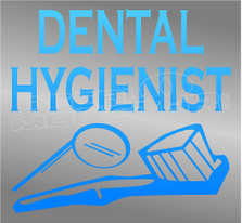 Dental Hygenist Occupation Decal Sticker