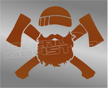 Lumberjack Crossed Axes Decal Sticker