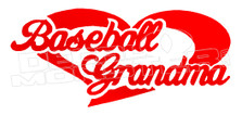 Baseball Grandma Decal Sticker
