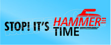 Hammer Time Curling Decal Sticker