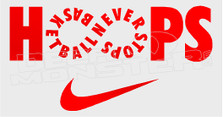 Nike Basketball Never Stops Decal Sticker