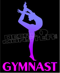 Gymnast Silhouette 1 Decal Sticker