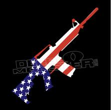 Assault Rifle American Flag Guns Decal Sticker