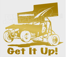 Sprint Car Racing Get it Up Decal Sticker