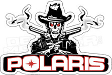 Polaris Skull Bandit Snowmobile Sled ATV Quad UTV 1 Decal Sticker