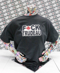 Fuck Trudeau Salute Knockout Center Deluxe T-Shirt