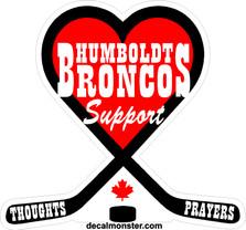 Humboldt Broncos Hockey Memorial Canada Decal Sticker DM
