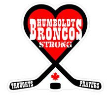 Humboldt Broncos Strong Memorial Canada Decal Sticker DM
