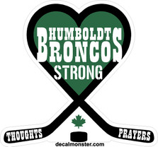 Humboldt Broncos Memorial Green Canada Decal Sticker DM