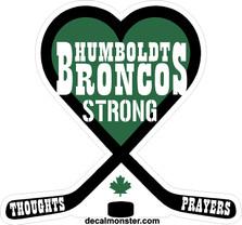 Humboldt Broncos Memorial Green Canada Decal Sticker DM
