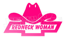 Cowgirl Redneck Woman Decal Sticker