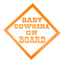 Baby Cowgirl on Board Decal Sticker