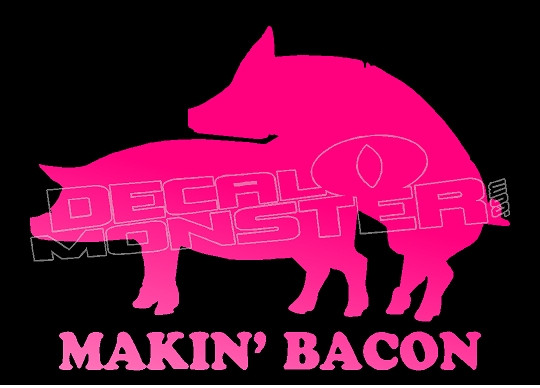 Making Bacon Funny Pigs Decal Sticker - DecalMonster.com 936ab4f5dc84