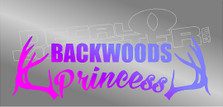 Backwoods Princess Antlers Decal Sticker