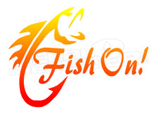 Fish on Tribal Style Decal Sticker