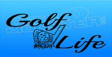Iron Golf Life Decal Sticker