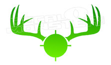Hunting Deer Headshot 1 Decal Sticker