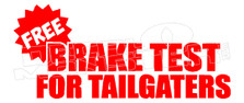 Back off Tailgaters 1 Decal Sticker