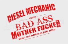 Badass Diesel Mechanic Decal Sticker