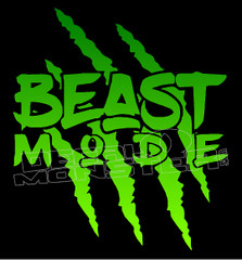 Claw Rip Beast Mode Decal Sticker