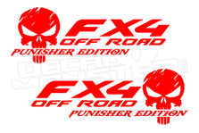 Fx4 Off Road Punisher Edition Decal Sticker