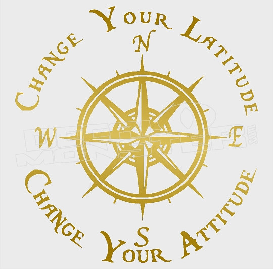 Change Your Latitude Change Your Attitude Decal Sticker