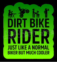 Cool Dirtbike Rider Decal Sticker