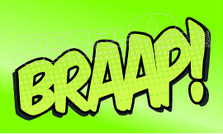 Braap 11 Decal Sticker