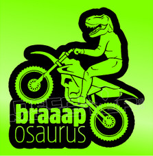 Dirt Bike Braaaposorus Decal Sticker
