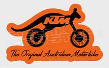 The Original Australian Motorbike KTM Decal Sticker