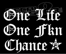 One Life One Fkn Chance Decal Sticker