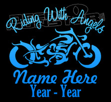 Streetbike Memorial Riding with Angels Decal Sticker