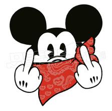 Mafia Gangsta Mickey Mouse Decal Sticker
