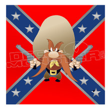 Yosemite Sam Protecting Confederate Flag Decal Sticker