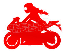 Girl Street Biker Silhouette Decal Sticker