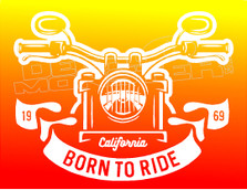 California Born to Ride 1969 Decal Sticker