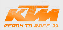 KTM Ready to Race Decal Sticker